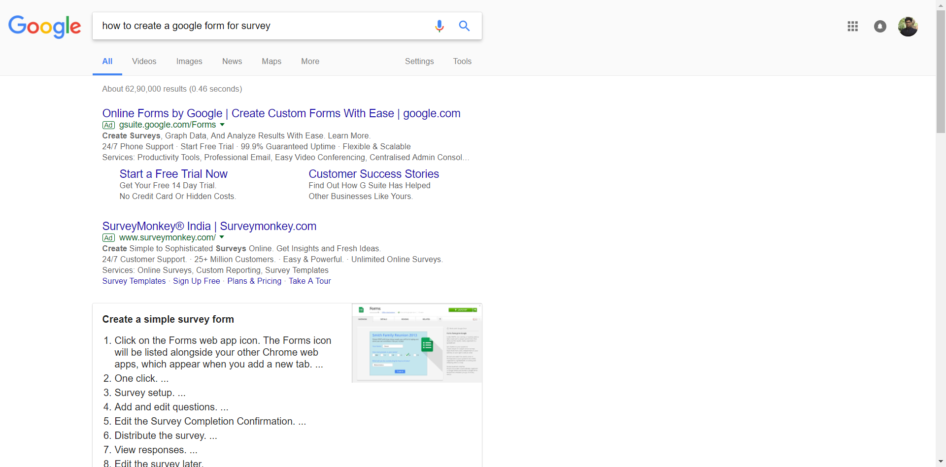 How to create a google form for survey - whatfix