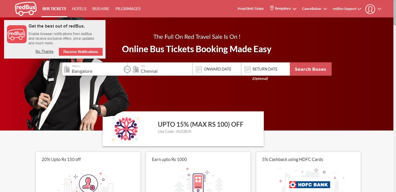 redbus ticket flow - whatfix