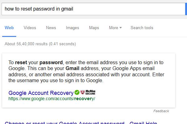 Reset Google Password - whatfix